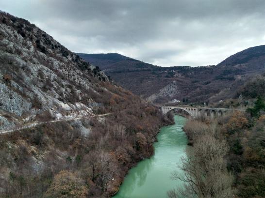 Solkan Bridge (https://en.wikipedia.org/wiki/Solkan_Bridge)