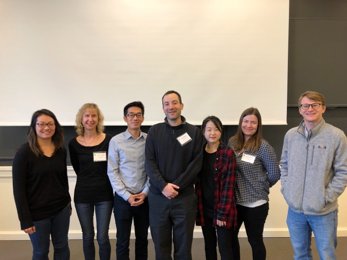 L to R: Stephanie Shih, Rachel Walker, Brian Hsu, Sam Tilsen, Hayeun Jang, Caitlin Smith, and Jason Shaw