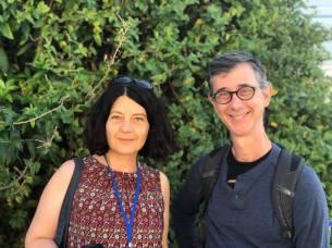 Roumi and her co-teacher Paul Portner